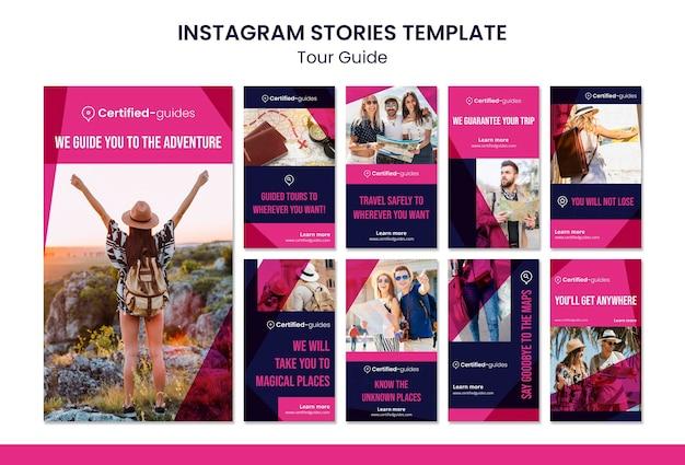 Histoires instagram du guide touristique