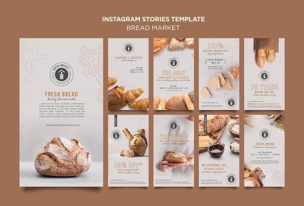 Histoires instagram du marché du pain