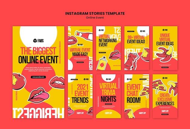 Histoires instagram d'événements en ligne