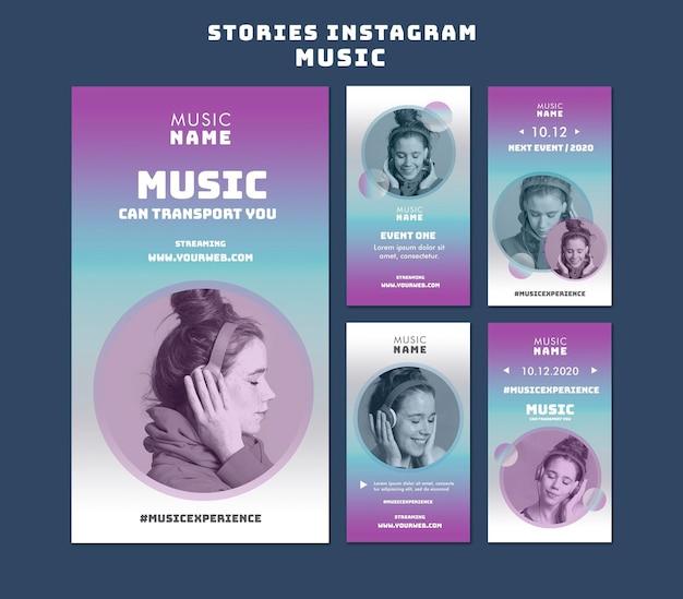 Histoires instagram d'événements musicaux