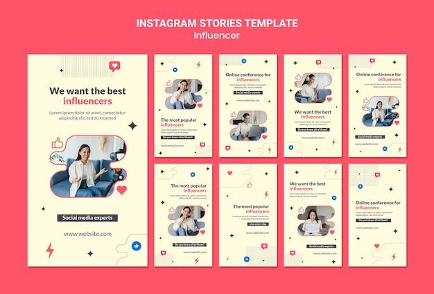 Histoires instagram d'experts des médias sociaux