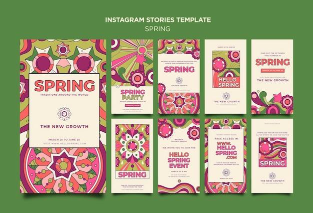 Histoires instagram de la fête du printemps