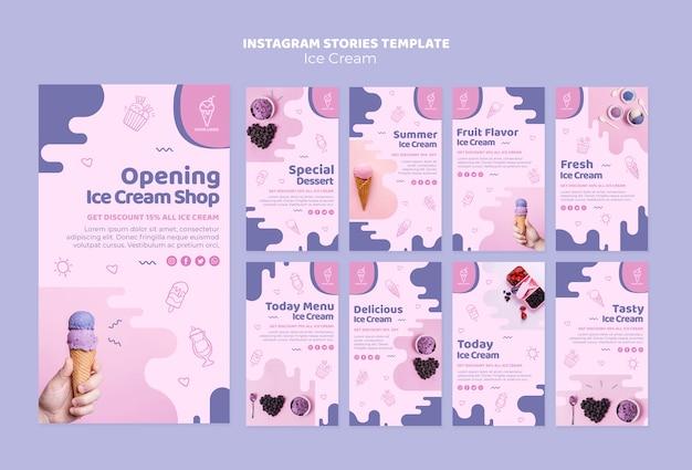 Histoires instagram de ice cream shop