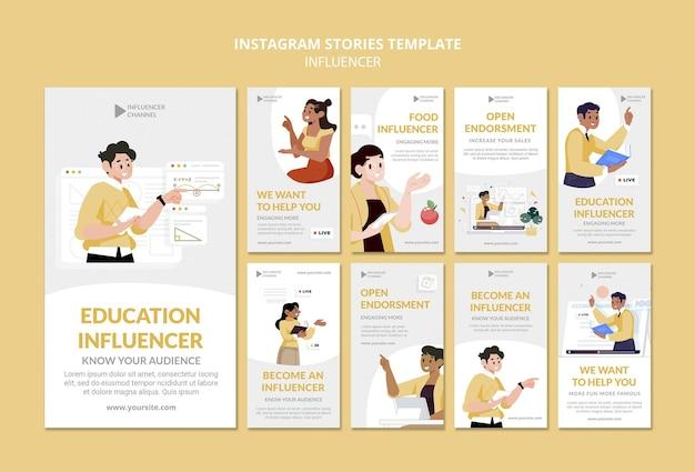 Histoires instagram d'influenceurs éducatifs