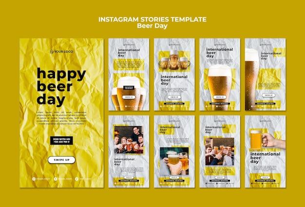 Histoires instagram de la journée de la bière