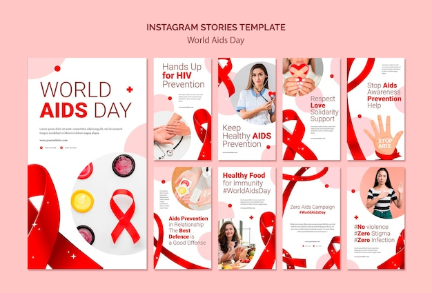 Histoires instagram de la journée mondiale du sida