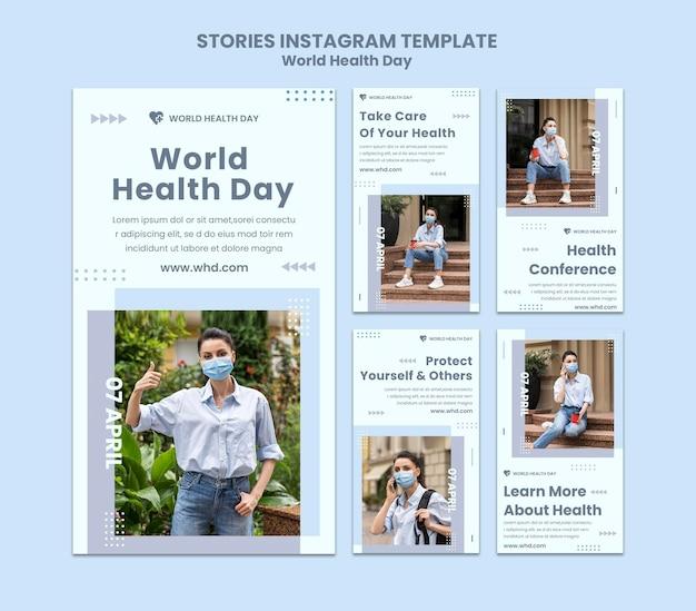 Histoires instagram de la journée mondiale de la santé