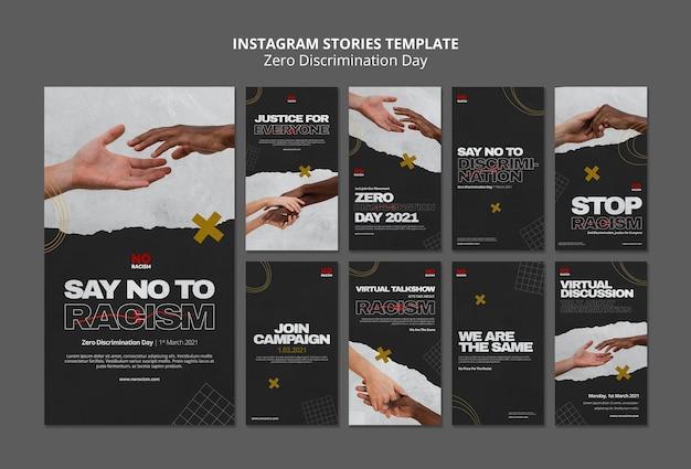 Histoires instagram de la journée zéro discrimination