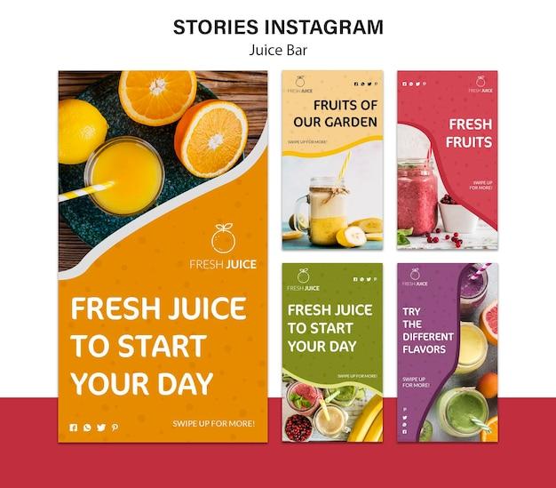 Histoires instagram de juice bar