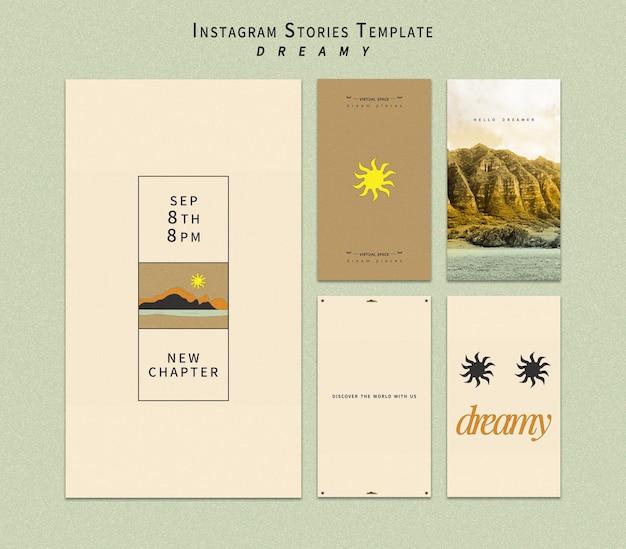 Histoires instagram de lieux de rêve