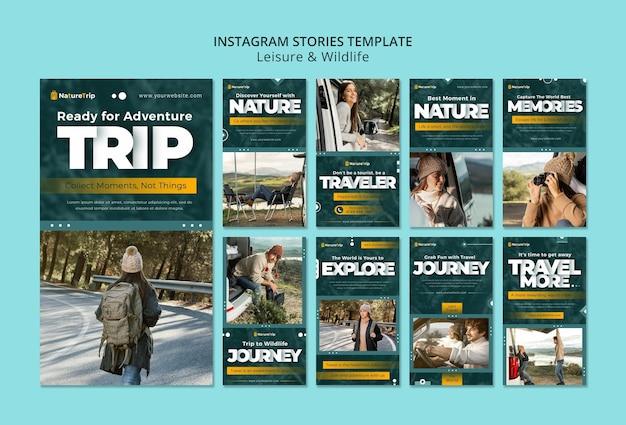 Histoires instagram sur les loisirs et la faune