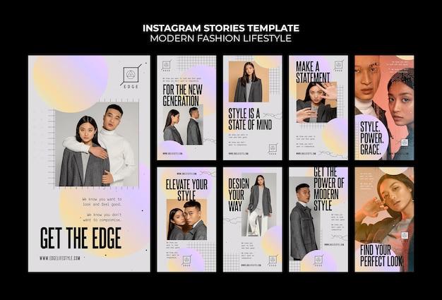 Histoires instagram de mode de vie moderne