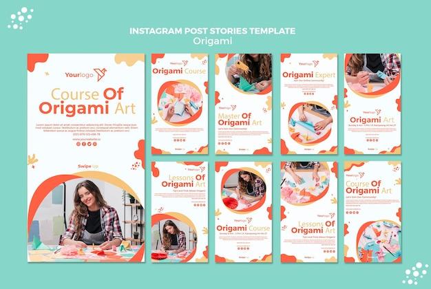 Histoires instagram en origami