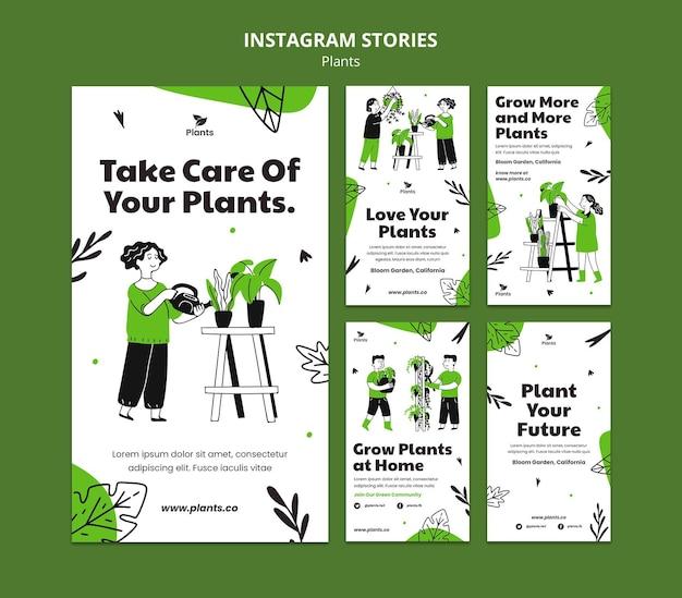 Histoires instagram de passe-temps de jardinage