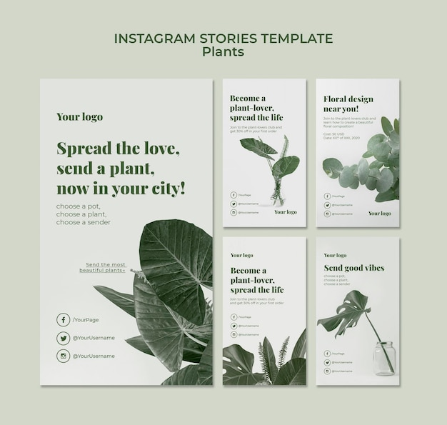 Histoires instagram de plantes