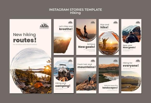 Histoires instagram de randonnée