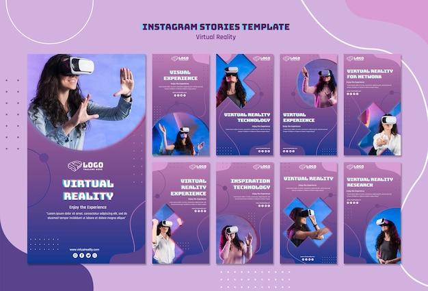 Histoires instagram de réalité virtuelle
