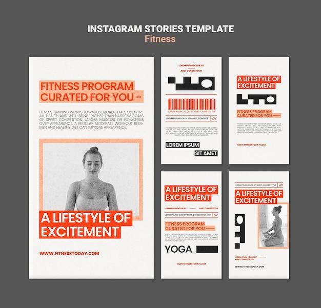 Histoires instagram de remise en forme