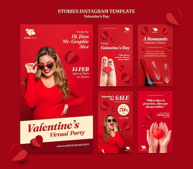 Histoires instagram de la saint-valentin