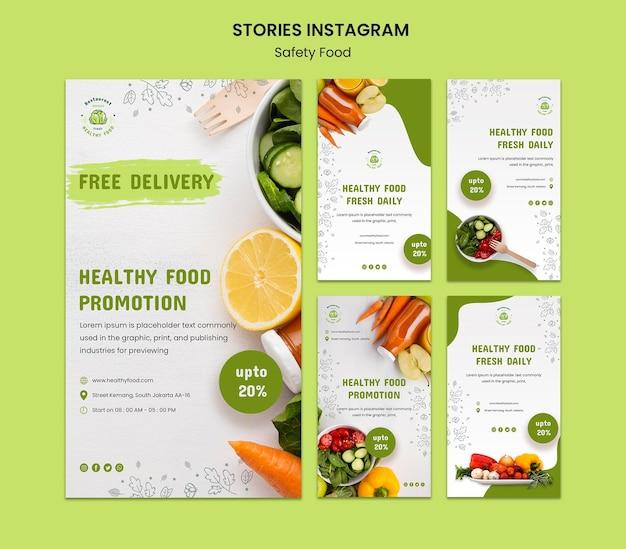 Histoires instagram de sécurité alimentaire