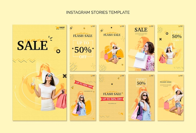 Histoires instagram de shopping
