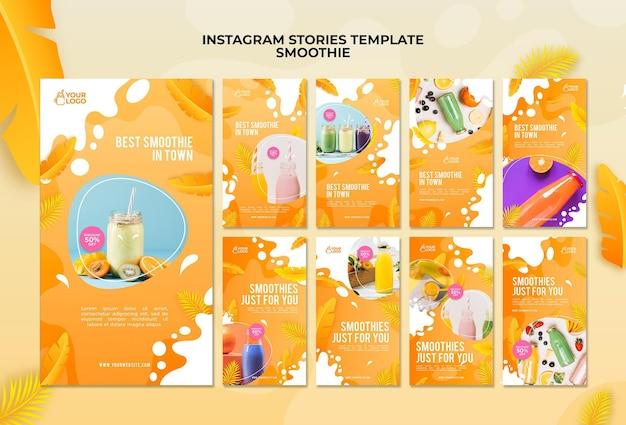 Histoires instagram de smoothie