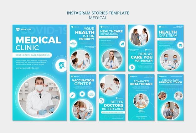Histoires instagram de soins de santé médicaux