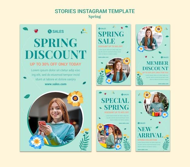 Histoires instagram de soldes de printemps