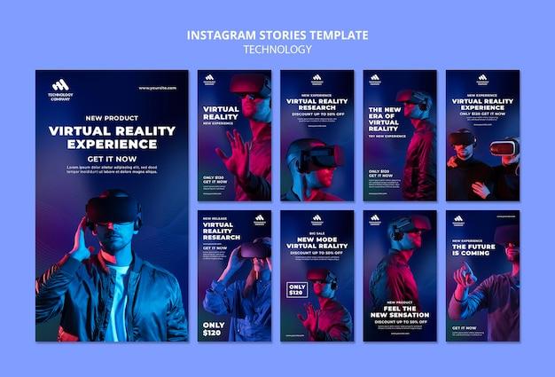 Histoires d'instagram de technologie