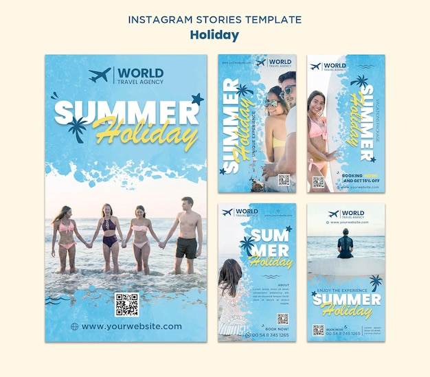 Histoires instagram de vacances