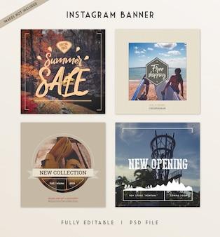 Histoires instagram vente bannière message de médias sociaux