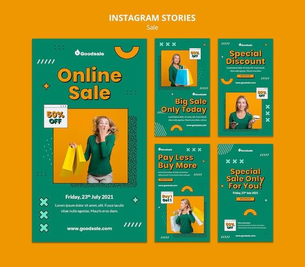 Histoires instagram de vente en ligne