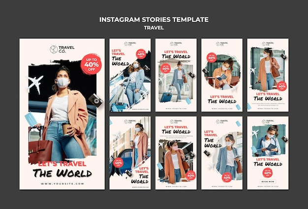 Histoires instagram de voyage