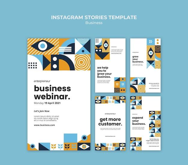 Histoires instagram de webinaire d'entreprise