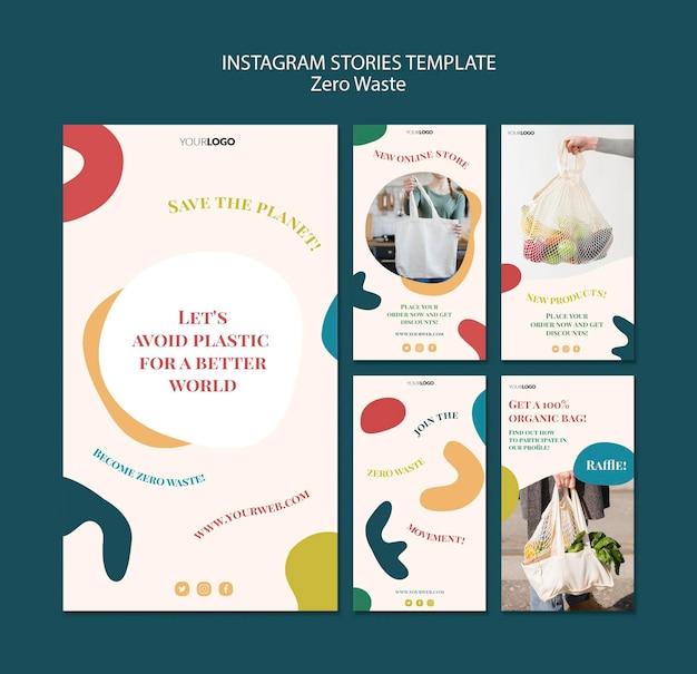 Histoires instagram zéro déchet