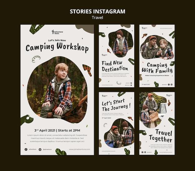 Histoires itinérantes sur les réseaux sociaux avec photos