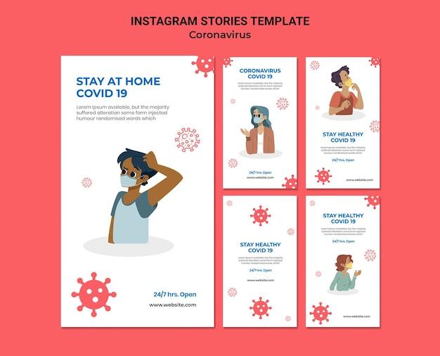 Histoires de médias sociaux sur le coronavirus