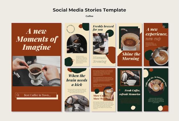 Histoires de médias sociaux dans un café