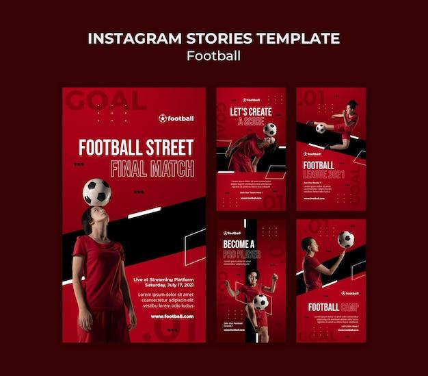 Histoires de médias sociaux de football féminin