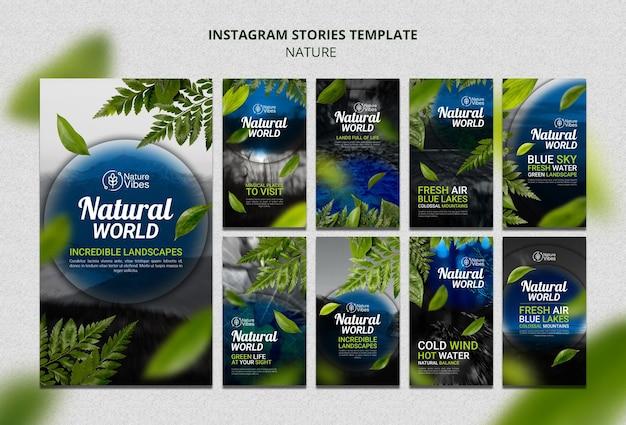 Histoires de médias sociaux sur la nature