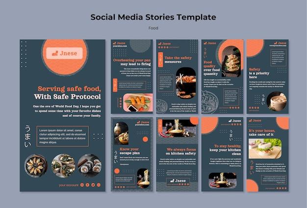 Histoires de médias sociaux sur la sécurité en cuisine