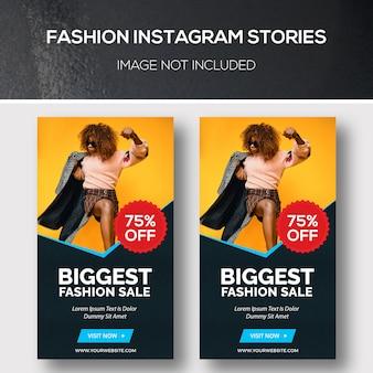 Histoires de mode insatagram