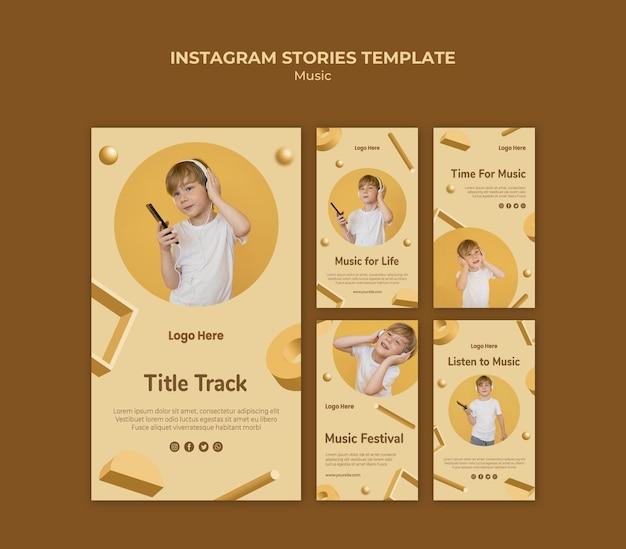Histoires de musique instagram