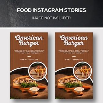 Histoires de nourriture instagram