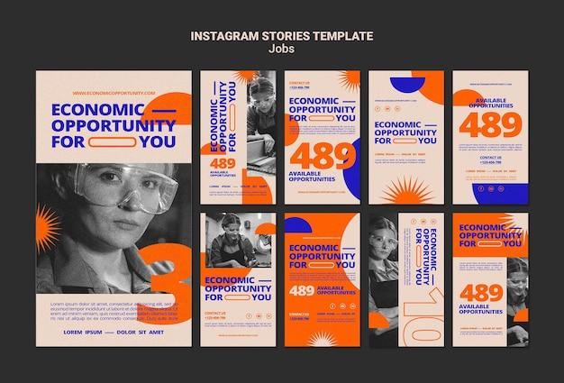 Histoires d'opportunités d'emploi sur les réseaux sociaux