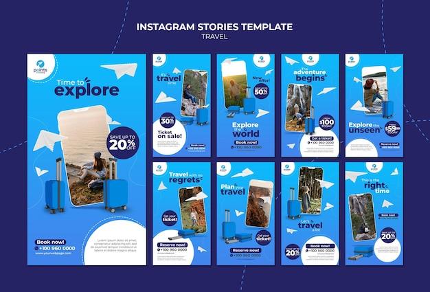 Histoires sur les réseaux sociaux des agences de voyages