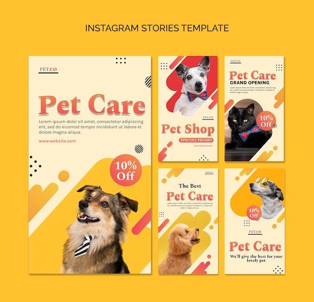 Histoires sur les réseaux sociaux de l'animalerie