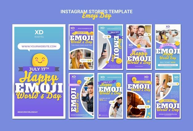 Histoires sur les réseaux sociaux du jour emoji
