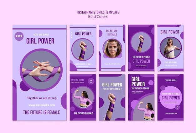 Histoires sur les réseaux sociaux girl power