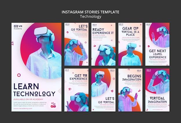 Histoires sur les réseaux sociaux en réalité virtuelle